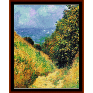 path at pourville ii - monet cross stitch pattern by cross stitch collectibles