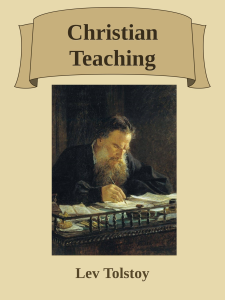 christian teaching - lev tolstoy