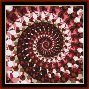 fractal 695 cross stitch pattern by cross stitch collectibles