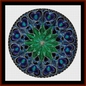 fractal 696 cross stitch pattern by cross stitch collectibles