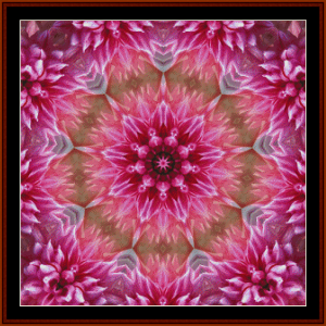 fractal 697 cross stitch pattern by cross stitch collectibles