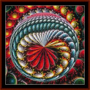 fractal 698 cross stitch pattern by cross stitch collectibles