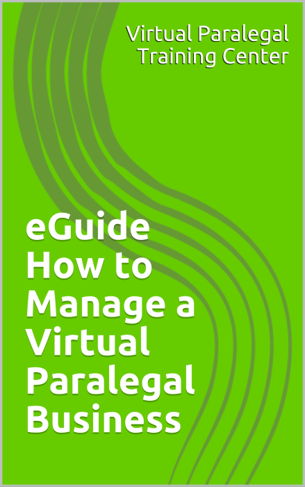 First Additional product image for - eGuide - How to Manage a Virtual Paralegal Business