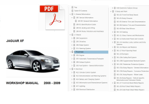 jaguar xf 2008-2009 service repair workshop manual