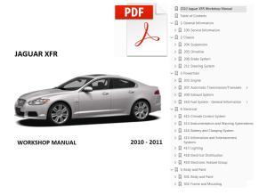 2010 2011 jaguar xfr workshop manual