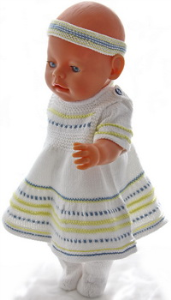 dollknittingpatterns 0193d sue - sommerkjole, genser, truse og sokker-(norsk)