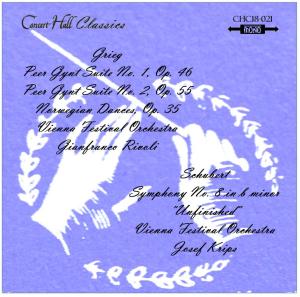 "grieg: peer gynt suites 1&2; schubert sym. no 8 ""unfinished"" - vienna festival orchestra"