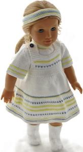 dollknittingpatterns 0193d sue - robe d'été, pull à manches courtes, culotte, bandeau et chaussettes-(francais)