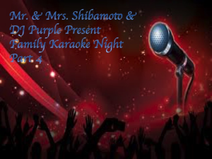 mr. & mrs. shibamoto family karaoke night part 4