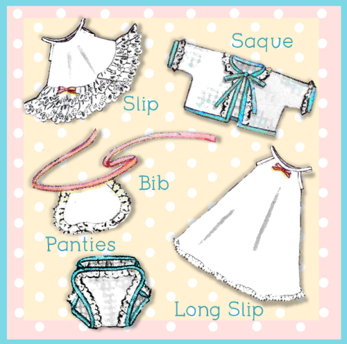 First Additional product image for - 8-9 inch Baby Doll Clothing Ginnette 2261 e-pattern