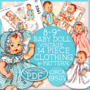 8-9 inch Baby Doll Clothing Ginnette 2261 e-pattern | Crafting | Sewing | Other