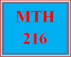 mth 216 week 1 mymathlab® week 1 homework