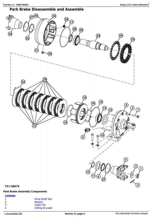 John Deere 544K 4WD Loader (SN.D642665-670307) w.Engine