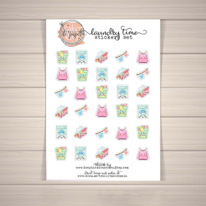 laundry time, printable stickers, ironing and laundry day