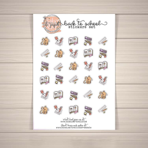 back to school stickers, printable, planner, bujo, tn, resources for teachers