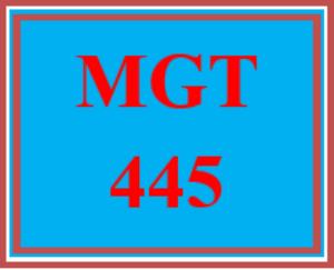 mgt 445 week 3 organizational negotiations
