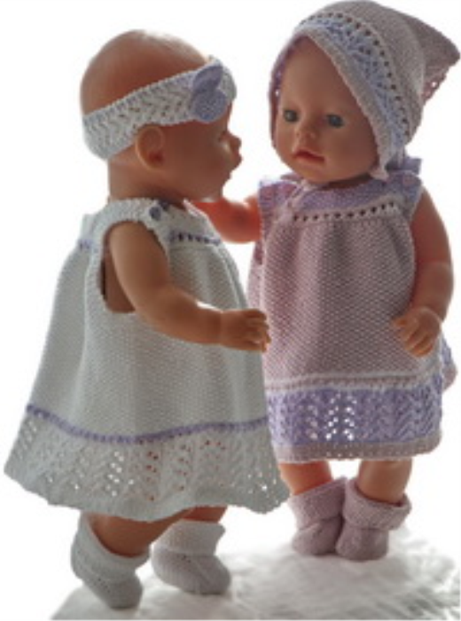First Additional product image for - DollKnittingPattern 0194D TUPPEN & LILLEMOR - Summer-dresses, pants, hairband, headscarf and socks-(English)
