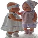 DollKnittingPatterns 0194D TUPPEN & LILLEMOR - Sommerkleid, 2 versch. Unterhosen, Haarband, Kopftuch und Socken-(Deutsch) | Crafting | Knitting | Other
