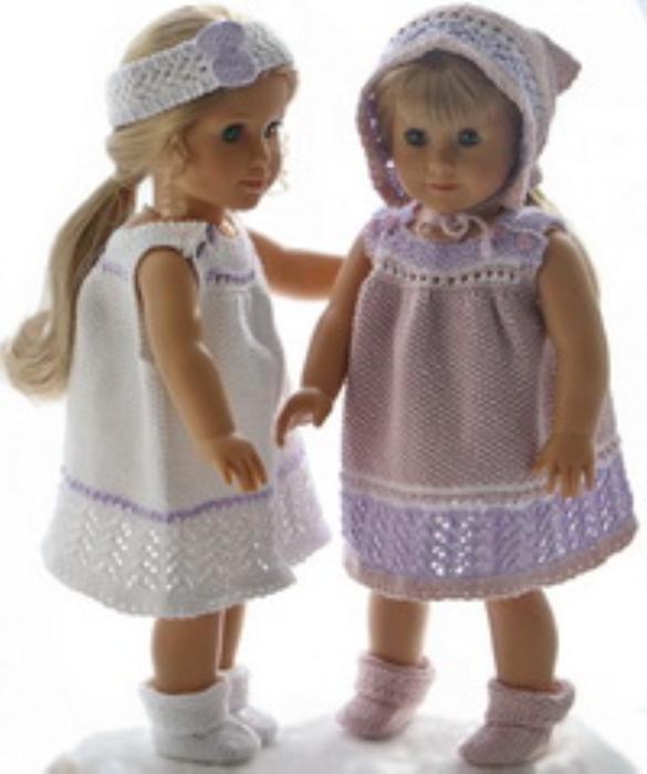 First Additional product image for - DollKnittingPatterns 0194D TUPPEN & LILLEMOR -  Robe d'été, culottes, bandeau, foulard et chaussettes-(Francais)