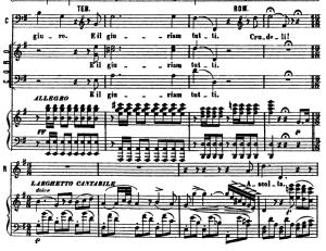 ascolta... se romeo l'uccise un figlio: aria for mezzo (romeo). v. bellini: i capuletti e i montecchi, act i sc.1. vocal score, ed. ricordi (pd). italian. sheet music (a4)