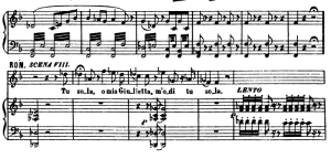 tu sola...deh! tu, bell'anima: aria for mezzo (romeo). v. bellini: i capuletti e i montecchi, act i sc.3. vocal score, ed. ricordi (pd). italian. sheet music (a4)