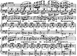 morte io non temo. aria and chorus for soprano (giulietta). v. bellini: i capuletti e i montecchi,  act ii sc.1. vocal score, ed. ricordi (pd). italian. (a4)