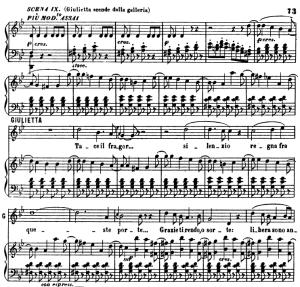 tace il fragor. aria for soprano (giulietta). v. bellini: i capuletti e i montecchi,  act ii sc.3. vocal score, ed. ricordi (pd). italian  (a4)