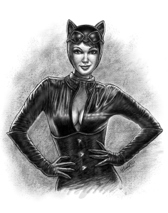catwoman digital drawing