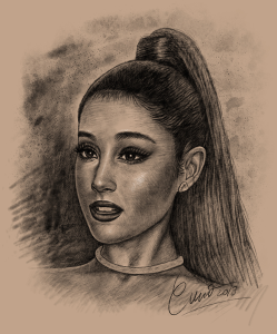ariana grande digital drawing