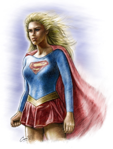 supergirl digital painting