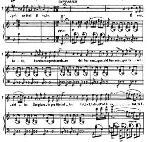 e serbato: aria for tenor (tebaldo). v. bellini: i capuletti e i montecchi, act i sc.1. vocal score, ed. ricordi (pd). italian (a4)