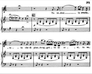 tu vedrai la sventurata: aria for tenor (gualtiero). v. bellini: il pirata, act ii sc.9. vocal score, ed. ricordi (pd). italian (a4).