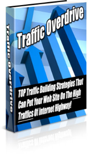 "traffic overdrive  - ""top traffic building strategies that can put your web site on the high traffics of internet highway!"""