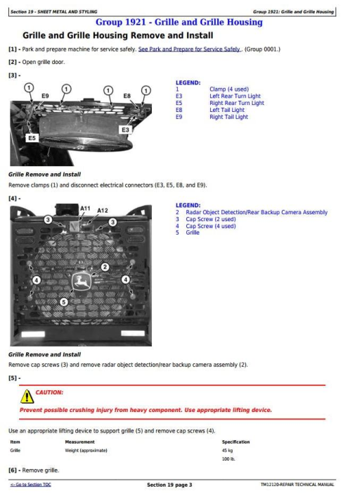 Fourth Additional product image for - John Deere 844K Series II(T2/S2 Engines) 4WD Loader(SN.642008—664095) Service Repair Manual(TM12120)