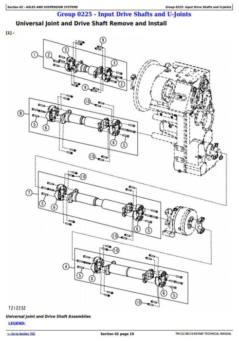 Second Additional product image for - John Deere 844K Series II 4WD Loader (SN. from F664098) Service Repair Technical Manual (TM13228X19)