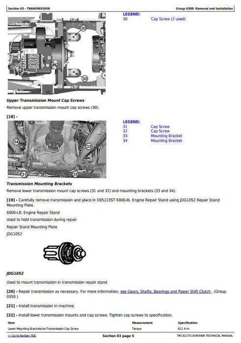 Second Additional product image for - John Deere 824K Series II (SN: from C664100, D664100) 4WD Loader Service Repair Manual (TM13227X19)