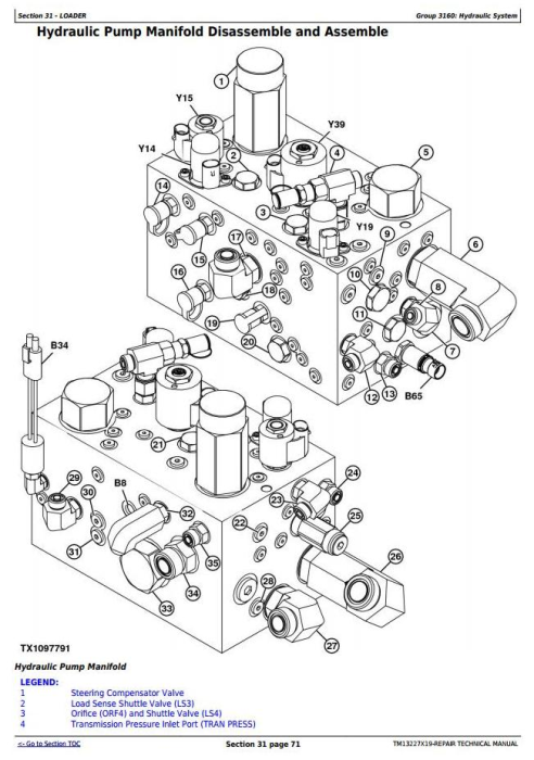 Fourth Additional product image for - John Deere 824K Series II (SN: from C664100, D664100) 4WD Loader Service Repair Manual (TM13227X19)