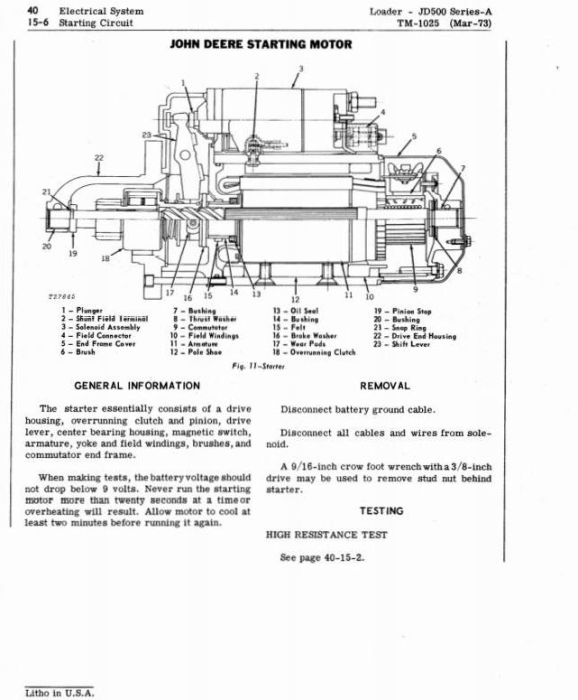 First Additional product image for - John Deere 500A Backhoe Loader Diagnostic and Repair Technical Service Manual (tm1025)