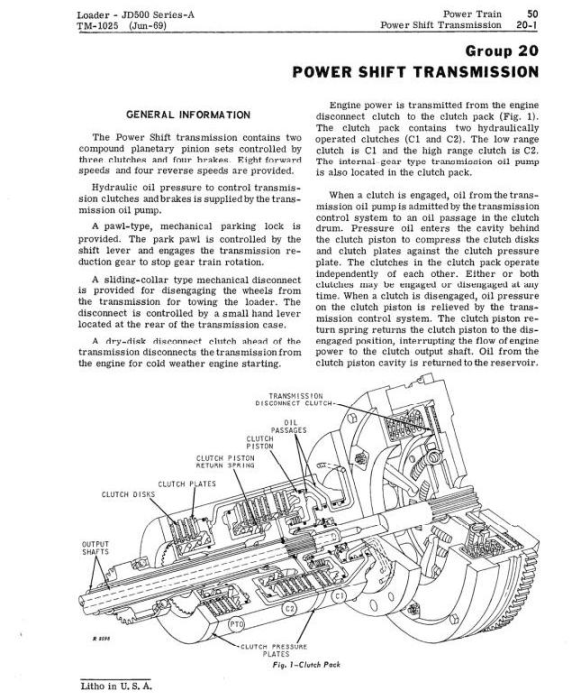 Second Additional product image for - John Deere 500A Backhoe Loader Diagnostic and Repair Technical Service Manual (tm1025)