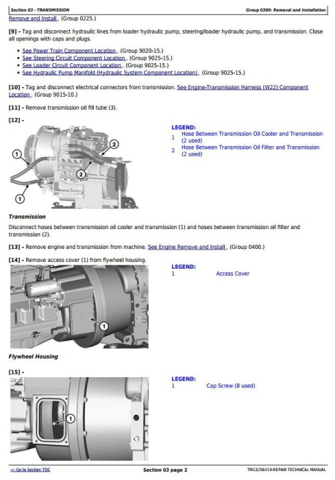 Second Additional product image for - John Deere WL53 4WD Loader (SN. D100008—100079) Service Repair Technical Manual (TM13256X19)