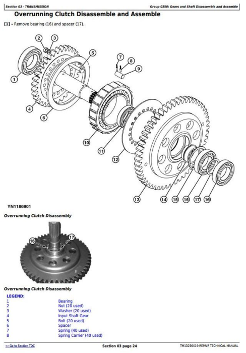 Third Additional product image for - John Deere WL53 4WD Loader (SN. D100008—100079) Service Repair Technical Manual (TM13256X19)