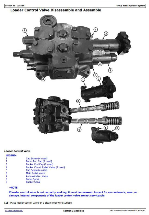 Fourth Additional product image for - John Deere WL53 4WD Loader (SN. D100008—100079) Service Repair Technical Manual (TM13256X19)