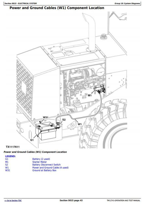 First Additional product image for - John Deere WL56 4WD Loader w.T2/S2 Engines Diagnostic, Operation and Test Service Manual (TM12741)