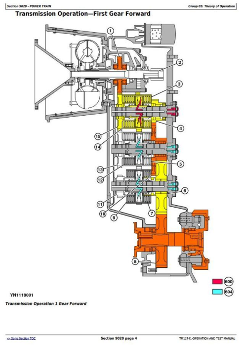 Second Additional product image for - John Deere WL56 4WD Loader w.T2/S2 Engines Diagnostic, Operation and Test Service Manual (TM12741)