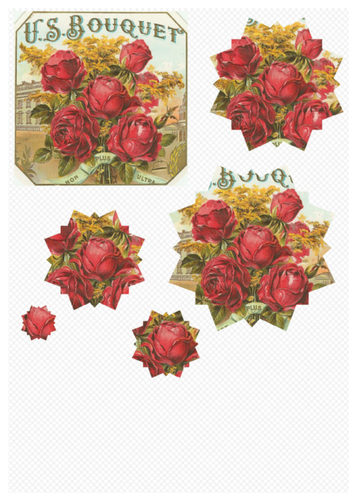 Third Additional product image for - Flowers 1. Craft papers for cardmaking and scrapbooking. PDF