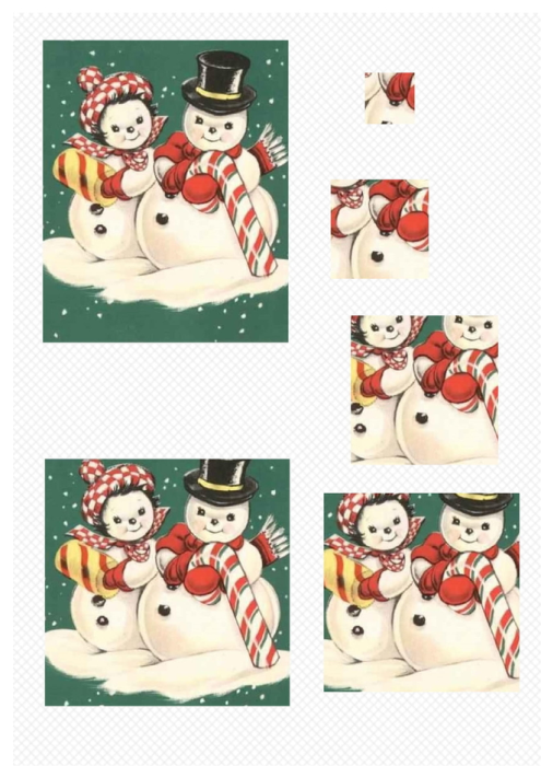 First Additional product image for - Snowman 1. Craft papers for cardmaking and scrapbooking