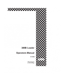 Case 380b 380b Ll Loader Operators Manual Download | eBooks | Automotive