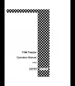 Case Ih 1194 Tractor Operators Manual Download   eBooks   Automotive
