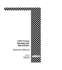 case ih 1370 tractor operators manual download
