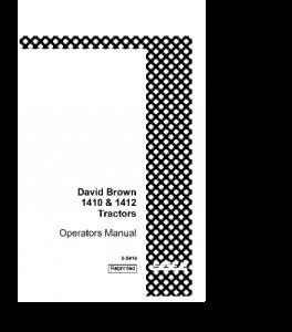 Case Ih David Brown 1410 1412 Tractor Operators Manual Download | eBooks | Automotive